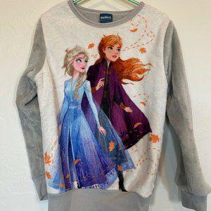 Disney Frozen 2 White Gray Fleece Long Sleeve 6X